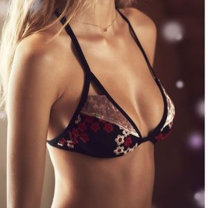 Out from under embroidered patchwork bra